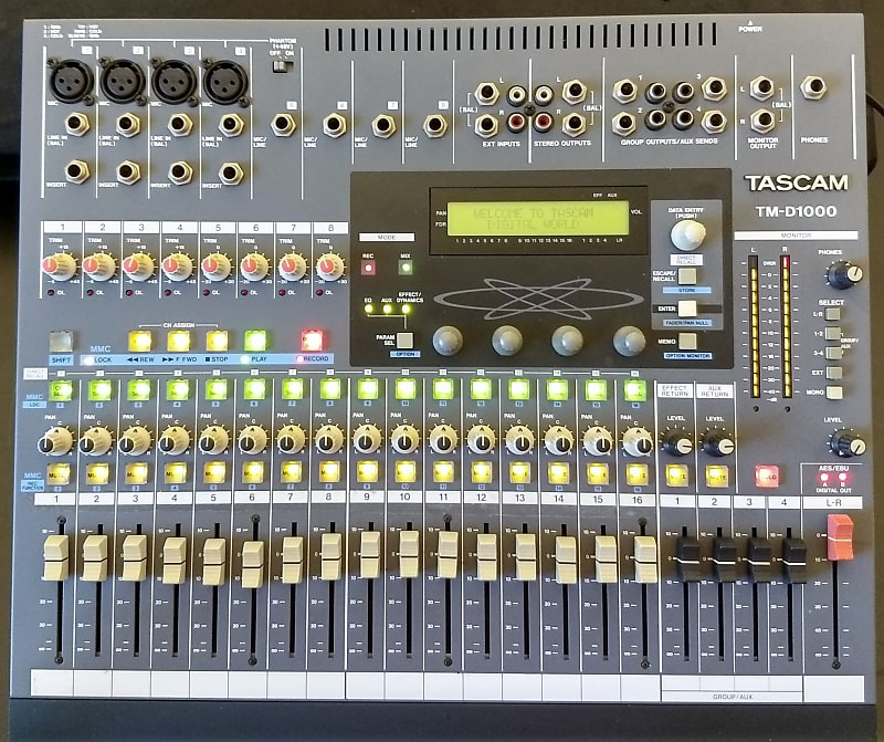 Groovy Tascam Tm D1000 Digital Audio Mixing Console Reverb Wiring Cloud Hisonuggs Outletorg