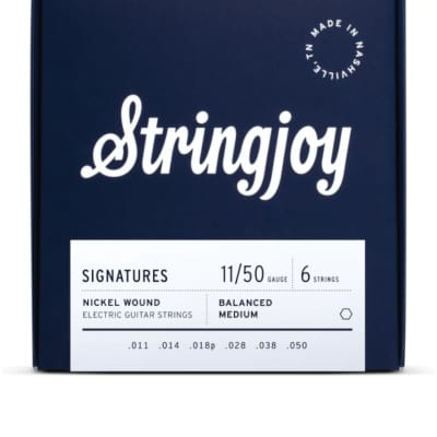 Stringjoy Signatures   Balanced Medium Gauge (11-50) Nickel Wound Electric Guitar Strings