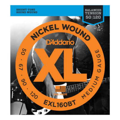 D'Addario EXL160BT Nickel Wound, Balanced Tension Medium, 50-120, Long Scale