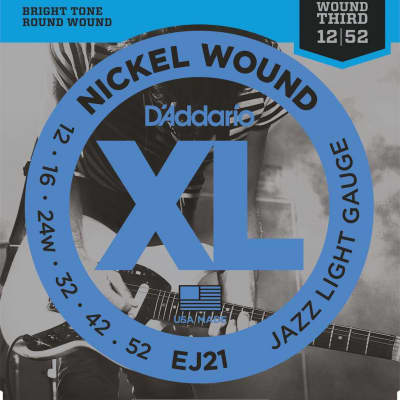 D'Addario XL Nickel Electric Strings - 12-52