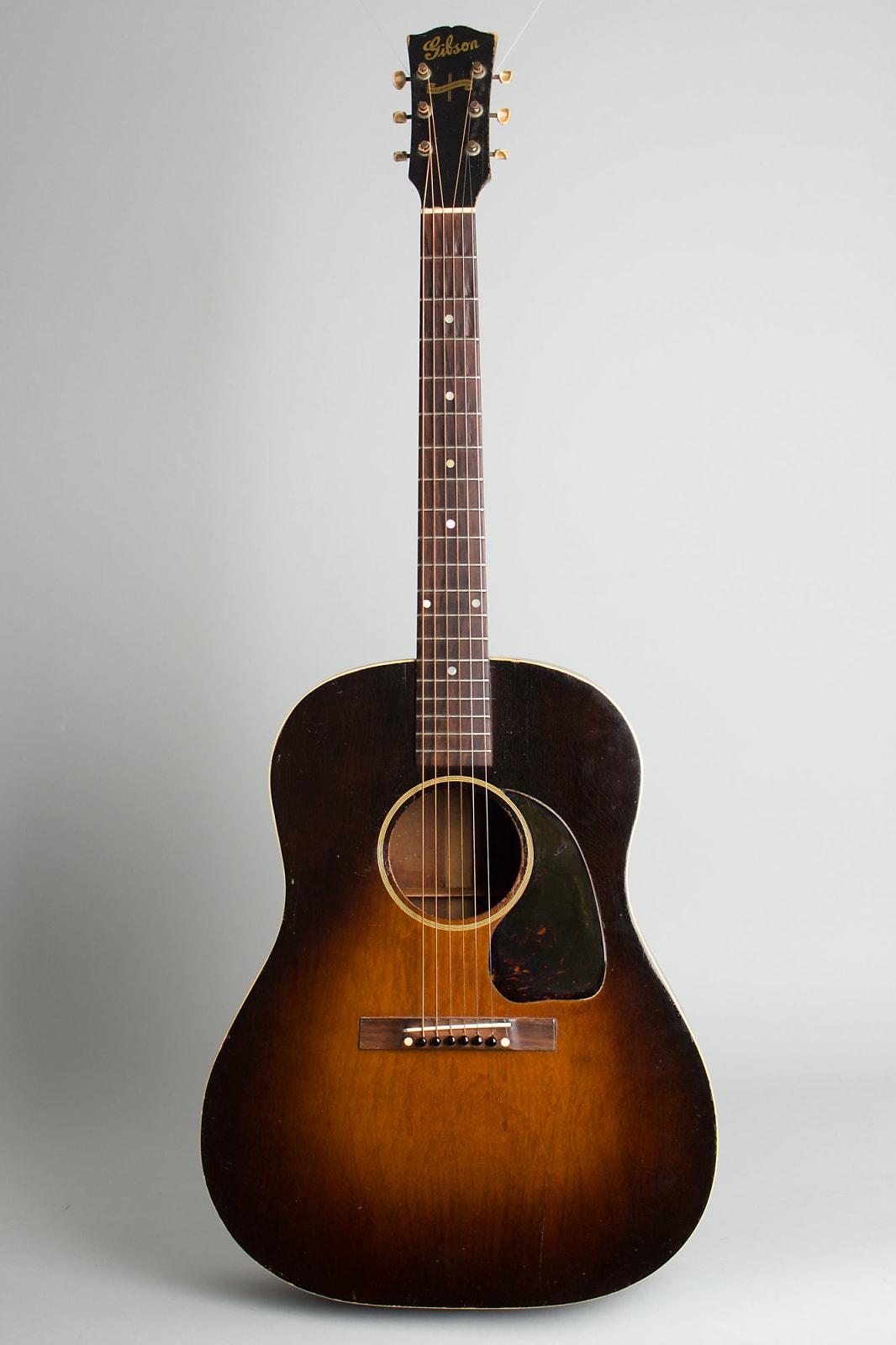 Gibson  J-45 Flat Top Acoustic Guitar,  c. 1943, ser. #2329-4, black tolex hard shell case.