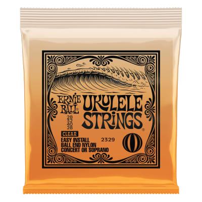 Ernie Ball P02329 Concert or Soprano Nylon Ball End Ukulele Strings - Clear