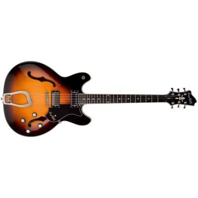 Hagstrom Viking Semi-Hollow Electric Guitar Resinator Fretboard Tobacco Sunburst for sale