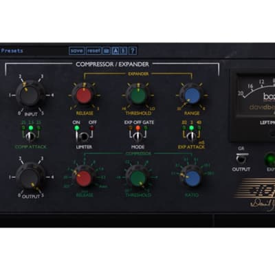 Boz Digital +10dB Compressor and Equalizer Software Plug-In
