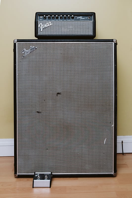 fender stack 1968 drip edge 2x12 super champ reverb. Black Bedroom Furniture Sets. Home Design Ideas