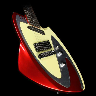 Used Eastwood Backlund Model 100 Electric Guitar Red with Case image