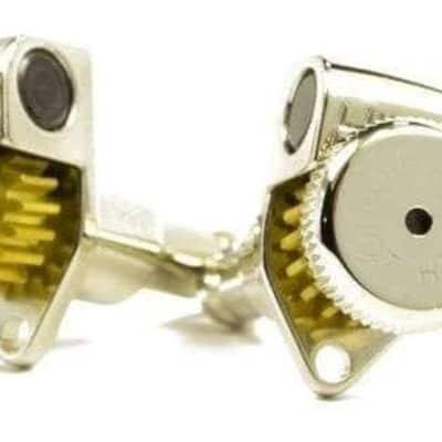 Hipshot® Nickel 3+3 Locking Tuners~UMP Upgrade Kit~18:1 Ratio~A04 Vintage Buttons~Brand New