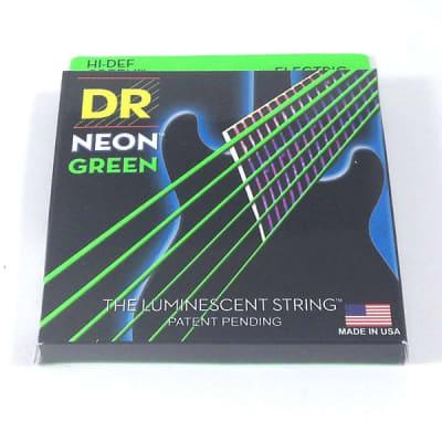 DR Guitar Strings Electric Neon Green 10-46 Medium