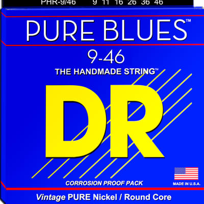 DR Strings PHR-9/46 Pure Blues Electric Strings - Lite-n-Heavy, 9/46 for sale
