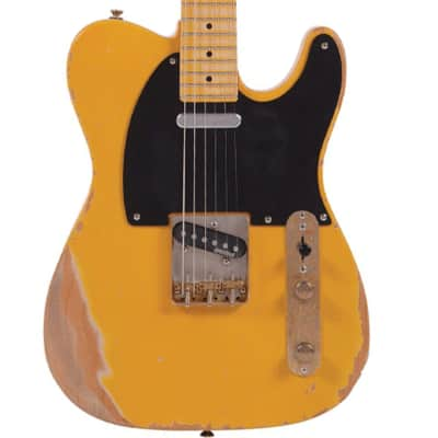 Vintage Reissue V52MRBS Distressed Butterscotch Electric Guitar