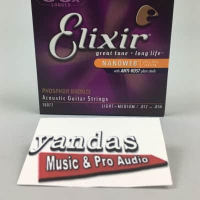 Elixir Nanoweb Phosphor Bronze Coated Acoustic Guitar Strings - Light - Medium   16077