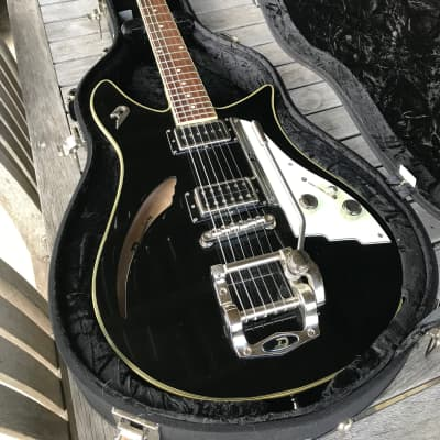 Duesenberg Double Cat Semi-Hollow Guitar 2010s Black Gloss for sale