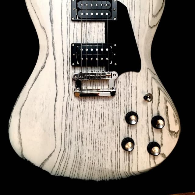 Knaggs Honga T3 Ivory/Onyx Drift Swamp Ash 6.8Lbs Electric Guitar & Case image