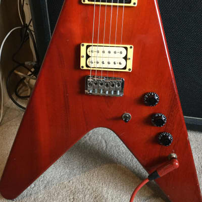 Hamer Vector  1981 Cherry. Original vintage USA Hamer with new hard case. for sale