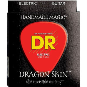 DR DSE-2/9 Dragon Skin K3 Coated Electric Guitar Strings - Light (9-42), Pack of 2