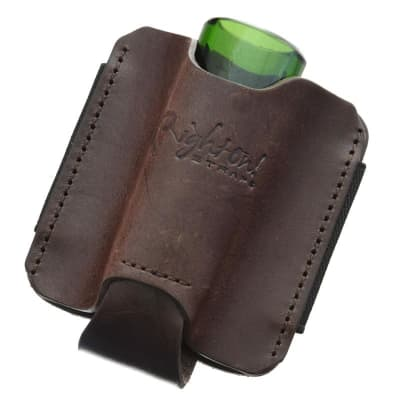 RightOn! Leather Slide or Harmonica Holder for Guitar Strap - Universal - Brown