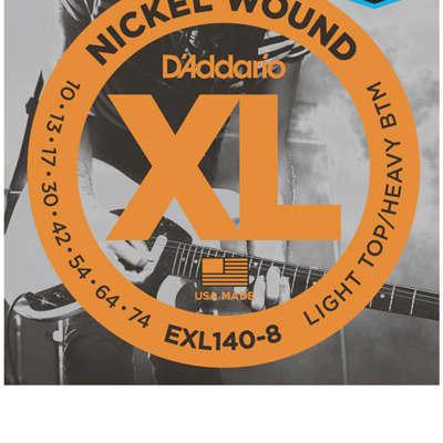 D'Addario EXL140-8 Nickel Wound Electric Strings -.010-.074 8-string Light Top/Heavy Bottom