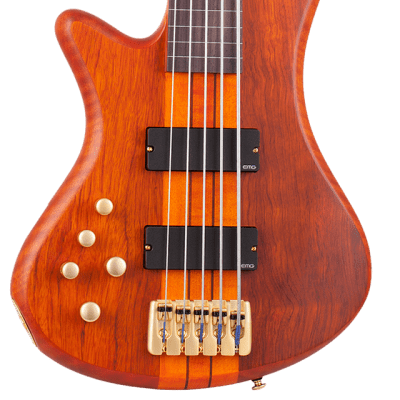 Schecter Stiletto Studio-5 FL LH Active Fretless 5-String Bass (Left-Handed) Honey Satin