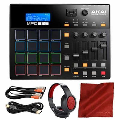Akai Professional MPD226 MIDI Drum Pad USB Controller with Headphones & Accessory Bundle
