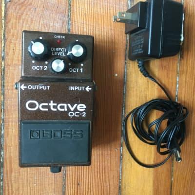 Boss Boss OC-2 Octave Pedal w/  power supp. 1989 - 1997 Brown