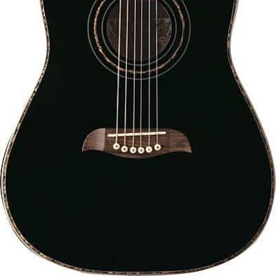Oscar Schmidt 3/4 Size Dreadnought Acoustic Guitar, Spruce Top, Black, OG1B for sale