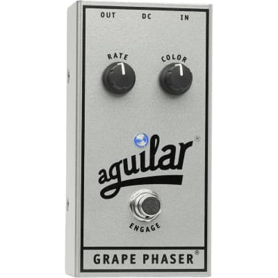 Aguilar Grape Phaser (Silver 25th Anniversary Limited Edition) Bass Guitar Effect Pedal for sale