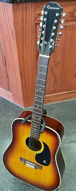 epiphone 12 string acoustic guitar made in japan reverb. Black Bedroom Furniture Sets. Home Design Ideas