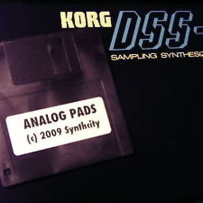 Korg DSS-1 Analog Pads Patches on Floppy Disk