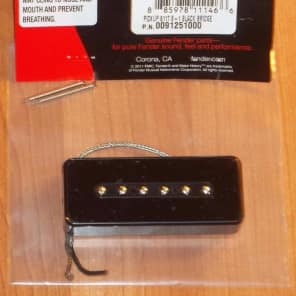 Fender® P-90 Black Soapbar Bridge Pickup~G & B Pickup~9.3k~0091251000~Brand New