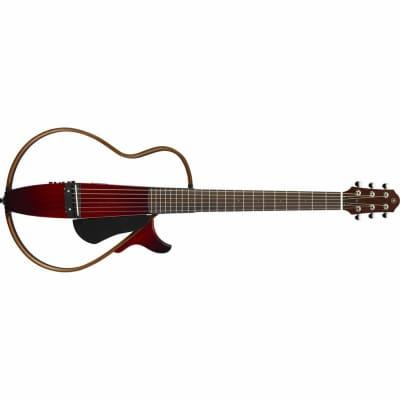 Yamaha   Slg200 Scrb   Yamaha Silent Guitar Crimson Red Burst for sale