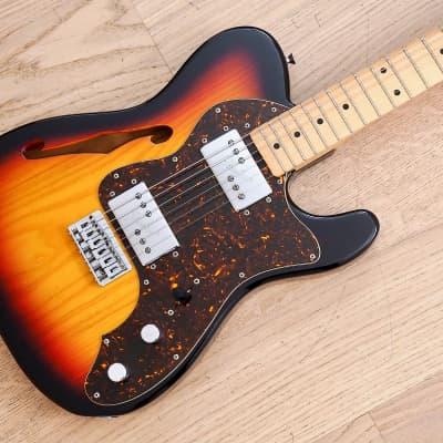 2011 Fender Telecaster Thinline '72 Vintage Reissue Guitar Sunburst Japan MIJ for sale