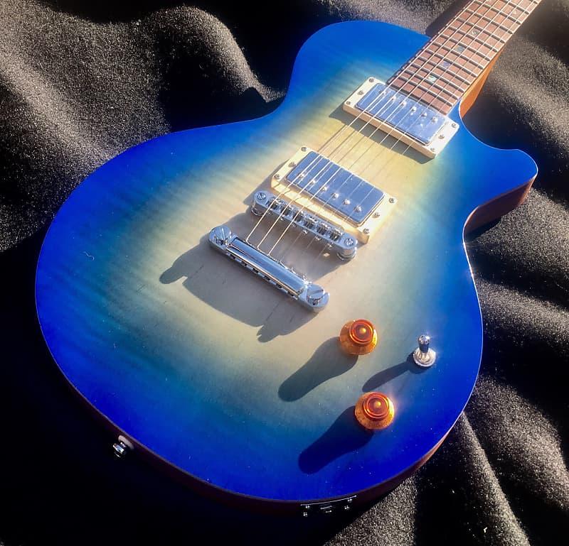 CMG USA Ashley Sandbar Burst Flame Top Electric Guitar w/Matching Headstock  and Gig Bag image