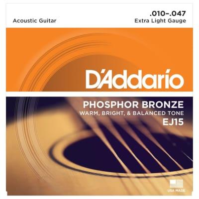 D'Addario Phosphor Bronze Extra-Light Acoustic Strings (10-47)