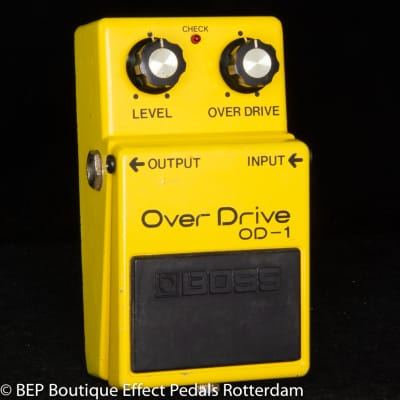 Boss OD-1 Overdrive 1980 Japan s/n 9800 Silver Screw, Long Dash with JRC4558D op amp
