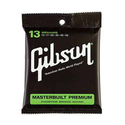 Gibson Gear Masterbuilt Premium Phosphor Bronze Acoustic Guitar Strings 13-56