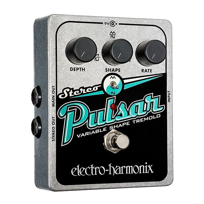 Electro-Harmonix EHX Stereo Pulsar Variable Shape Analog Tremolo Effects Pedal