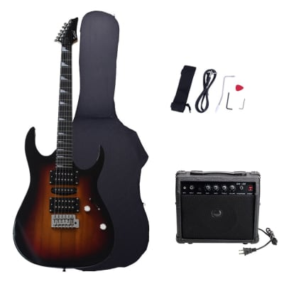 Glarry 170 Type Electric Guitar w/ 20W Amplifier Sunset for sale