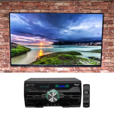 """Technical Pro DV4000 4000w Home Theater DVD Receiver+(2) 5.25"""" White Speakers"""