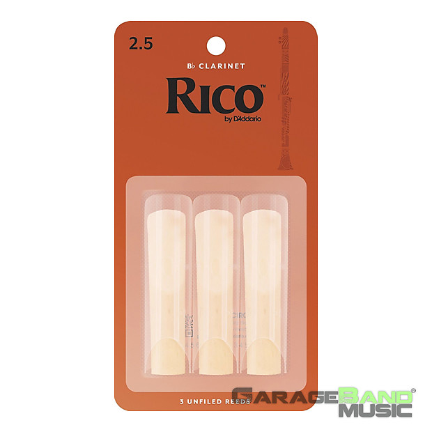 Rico Bb Clarinet Reeds #2.5 NEW rca0325 3-Pack