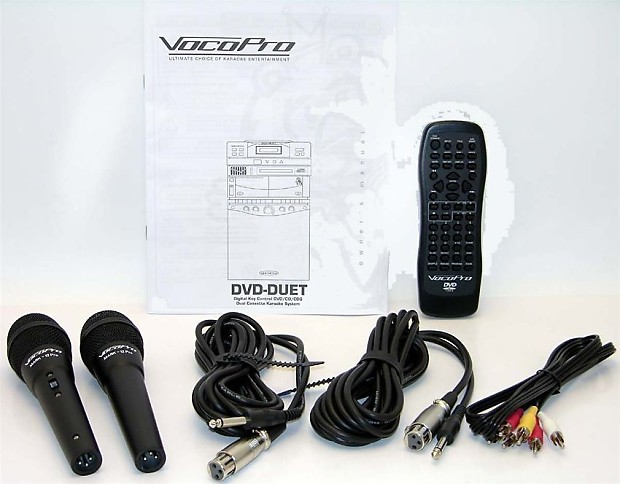 vocopro dvd duet ii package cd g karaoke machine system with reverb. Black Bedroom Furniture Sets. Home Design Ideas