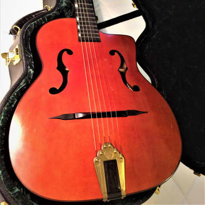VV:  Altamira  M01F Gypsy Jazz guitar, deluxe Hardshell Case, major upgrades, BEST PRICE BY A MILE