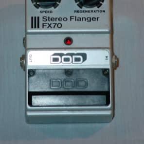 DOD FX70 Stereo Flanger 1982 Black & Silver for sale