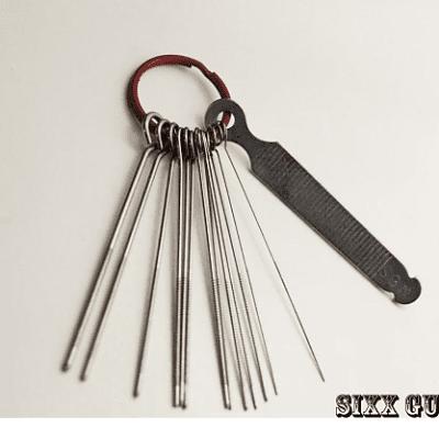 SGM Guitar Nut File String Slotting Set, Luthier Tool