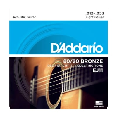 D'Addario EJ11 80/20 Bronze Light String Set 12-53