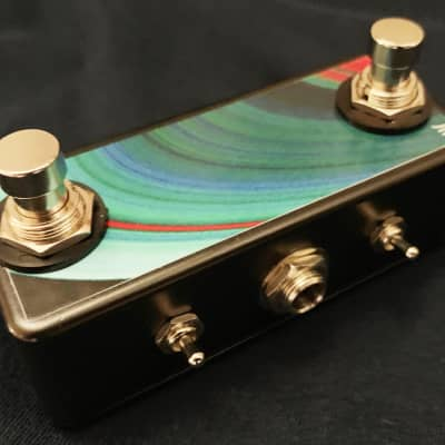 Saturnworks Black Double Momentary Switch w NO / NC Polarity + Switchcraft TRS Jack - Replaces  FS-6