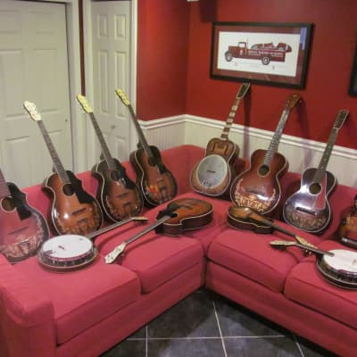 Collection of pre-war Kay kraft, Oahu, Del Oro and Recording King instruments for sale