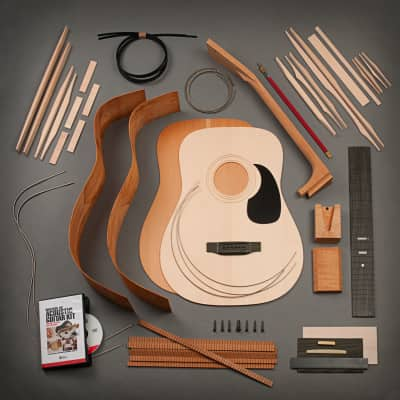 StewMac Dreadnought Acoustic Guitar Kit, Dovetail Neck, Sitka Top, Mahogany Back & Sides for sale