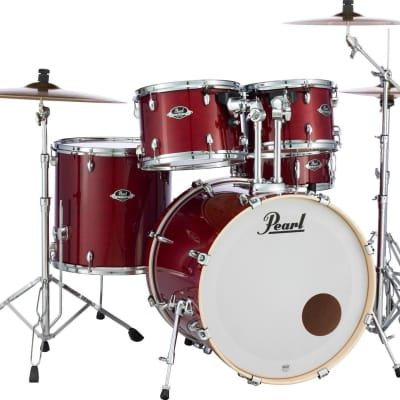 Pearl Export EXL 5-piece Drum Set with Hardware Natural Cherry