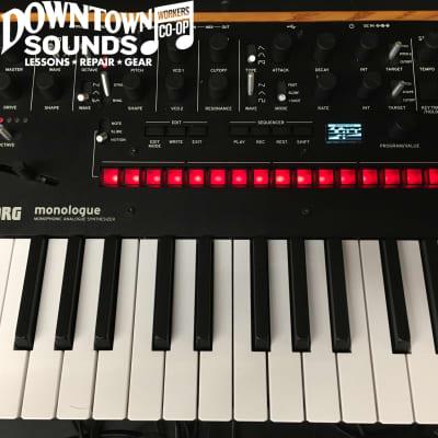 Korg Monologue Monophonic Analog Synthesizer -  Black