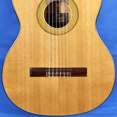 Merida Trajan T-5 Cedar Top Mahogany Classical Nylon Acoustic Guitar for sale